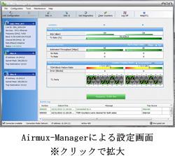 Airmux-400の主なアプリケーション